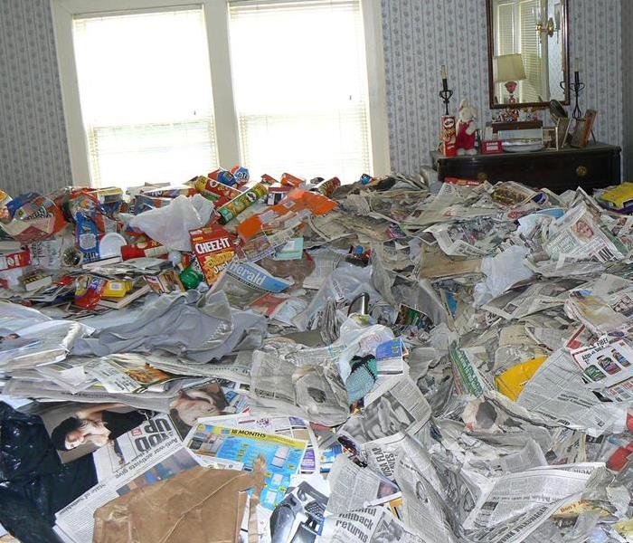 Hoarding clean up Before